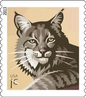 Bobcat Stamp Begins Prowling Around the Nation's Post Offices Today