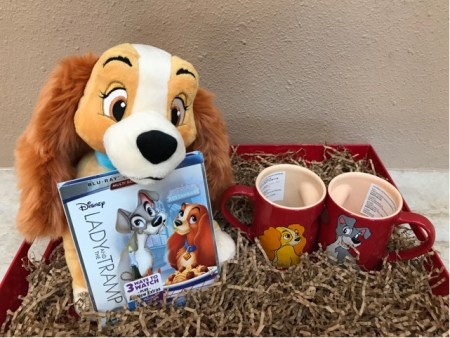 "Listen on your favorite radio station, Watch on Facebook Live @talkinpetsradio, Call & Win, Talkin' Pets this Saturday 3/3/18 between the hours of 5-8pm EST when you hear the song ""He's A Tramp"" and win from Walt Disney Pictures the gift box pictured"