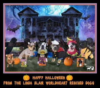 Happy Halloween and Halloween pet tips from Linda Blair and The WorldHeart Foundation