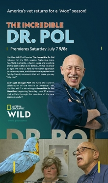 Summer of Red, White and MOO!  Nat Geo WILD's No. 1 Series The Incredible Dr. Pol Returns With a New Season This July