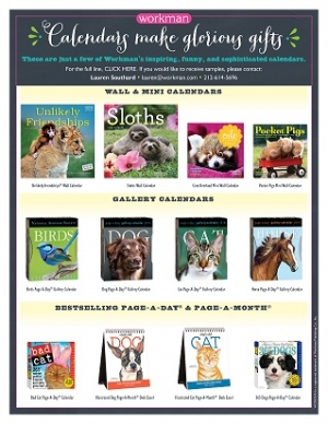 Calendars make great gifts and thanks to Workman Publishing Talkin' Pets will be giving away 2016 animal & pet calendars during all 3 hours of the show 10/31/15 Happy Halloween
