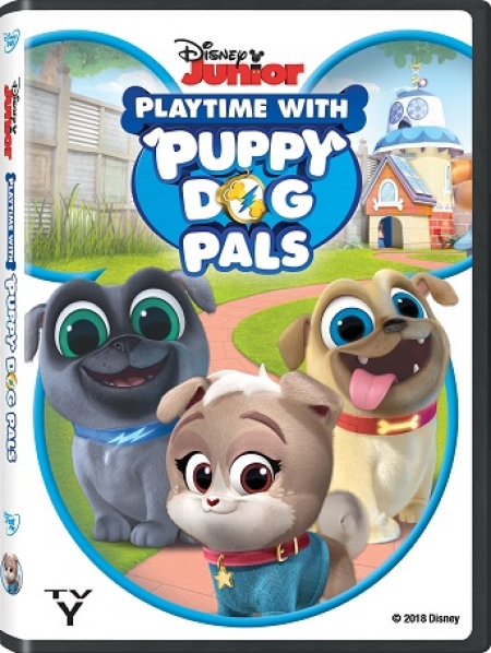 "Win this weekend 2/2/19 from 5-8pm ET on Talkin' Pets compliments from Disney Junior ""Playtime with Puppy Dog Pals"" DVD now available with 8 bonus shorts"