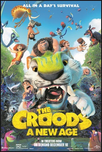 """ON TALKIN' PETS 5-8PM ET ON 12/19/20 BE ONE OF SEVERAL LISTENERS TO WIN A FandangoNOW GIFT CERTIFICATE TO WATCH """"THE CROODS: A NEW AGE."""" DREAMWORKS ANIMATION PRESENTS THE HOLIDAY EVENT FOR THE ENTIRE FAMILY! IN THEATERS NOW & ON DEMAND 12/18/20"""