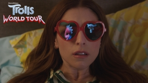 "It's A Party In Anna Kendrick's Living Room.     Watch Anderson .Paak and Justin Timberlake in the ""Don't Slack"" official music video for TROLLS WORLD TOUR at https://talkinpets.com/new/movies-reviews.html"