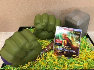 "Walt Disney Studios and Marvel Entertainment has just released on Blu Ray, DVD, Digital, ""THOR: RAGNAROK"" and you can win a gift box pictured this Saturday 3/10/18 on Talkin' Pets, game play will be announced each hour 5-8pm EDT"